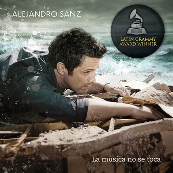 "COver of Grammy-award winning album "" La música no se toca"" by Alejandro Sanz 